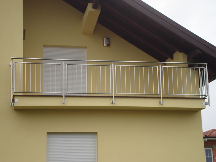 Stainless steel balcony railings aston inox for English balcony